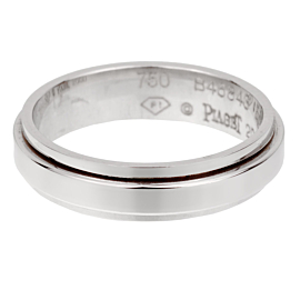 Piaget Possession White Gold Spinning Band Ring Sz 7
