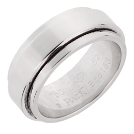 Piaget Possession White Gold Spinning Ring Sz 6