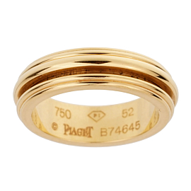 Piaget Possession Yellow Gold Spinning Ring Sz 6