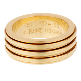 Piaget Possession Yellow Gold Spinning Band Sz 6 1/2