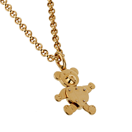 Pomellato Teddy Bear Charm Yellow Gold Necklace