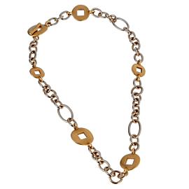 Pomellato White & Yellow Gold Heavy Link Necklace