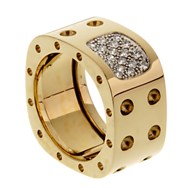 Roberto Coin Pois Moi Diamond Yellow Gold Ring