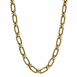 Tiffany & Co Woven Gold Sautoir Necklace