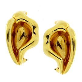 Tiffany & Co Calla Lily 18k Yellow Gold Earrings