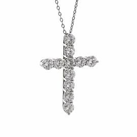 Tiffany & Co Diamond Cross Platinum Necklace