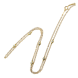 Tiffany & Co Diamonds by the Yard Gold Necklace