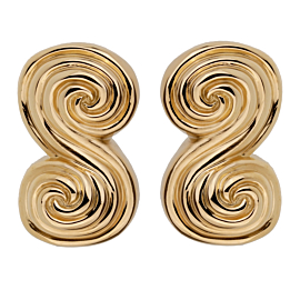 Tiffany & Co Scroll 18k Yellow Gold Clip On Earrings