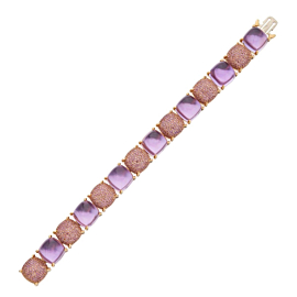 Tiffany & Co. Amethyst Sugar Stacks Gold Bracelet