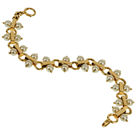 Tiffany & Co Vintage Pearl Yellow Gold Bracelet