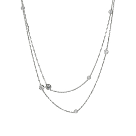 Tiffany & Co Diamonds by the Yard Platinum Necklace