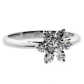 Tiffany & Co Flower Diamond Platinum Ring