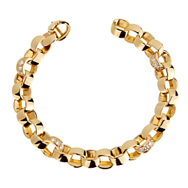 Van Cleef & Arpels Diamond Gold Chain Bracelet