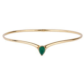 Van Cleef & Arpels Chrysoprase Gold Choker Necklace
