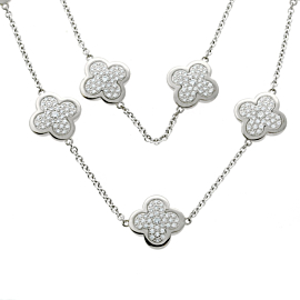 Van Cleef & Arpels Pure Alhambra Diamond Necklace