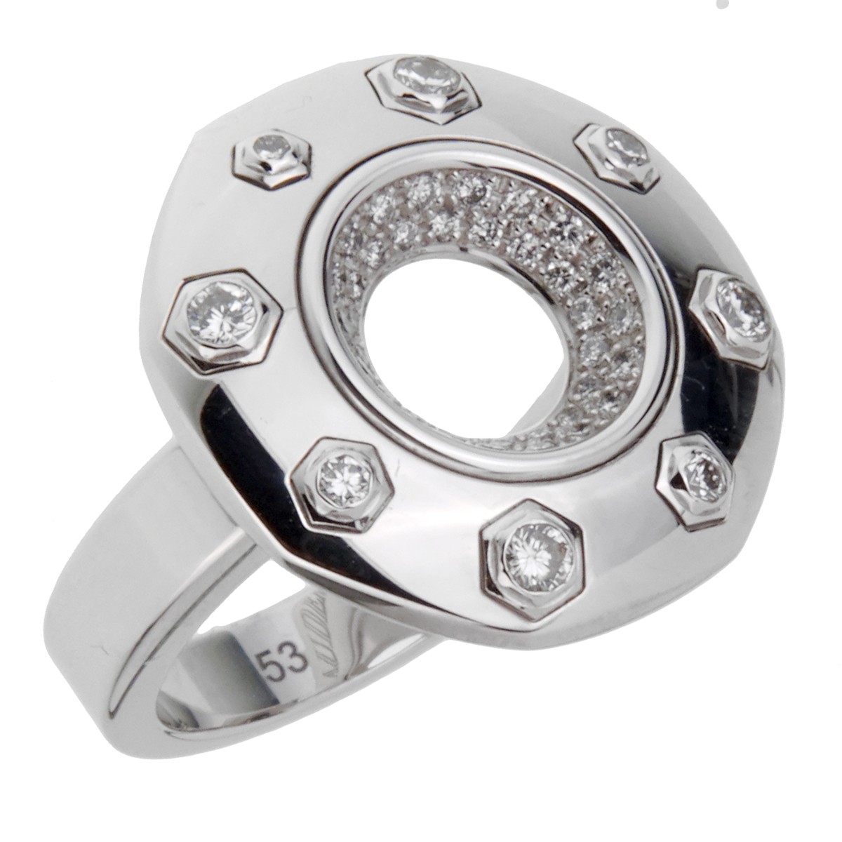 Audemars Piguet Royal Oak Diamond White Gold Ring - Audemars Piguet Jewelry