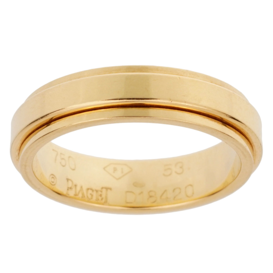 Piaget Possession Yellow Gold Spinning Ring Sz 6 1/4