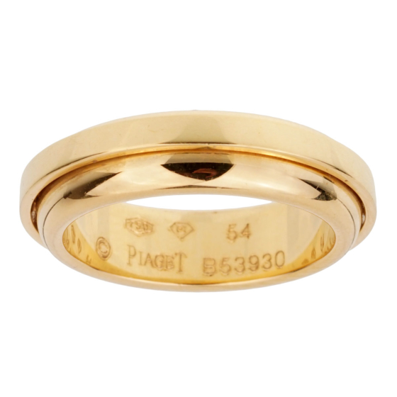 Piaget Possession Yellow Gold Band Ring Size 6 1/2