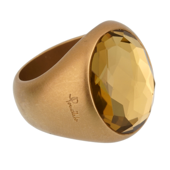 Pomellato 9.5 Carat Green Quartz Yellow Gold Cocktail Ring Sz 6.5