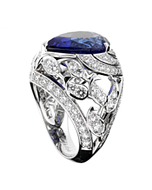 Van Cleef & Arpels Les Jardins 18k White Gold Tanzanite & Diamond Suite - Van Cleef and Arpels Jewelry