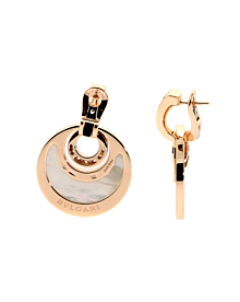 Bulgari Intarsio Rose Gold Diamond Earrings - Bulgari Jewelry