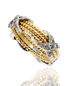 Tiffany & Co Jean Schlumberger Rope Platinum and 18k Diamond Ring