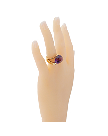 Antonini Amethyst Gold Cocktail Ring - Antonini Jewelry
