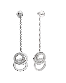 Audemars Piguet Millenary Diamond White Gold Drop Earrings - Audemars Piguet Jewelry