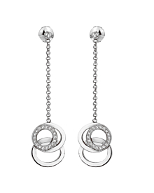 Audemars Piguet Millenary Diamond White Gold Drop Earrings