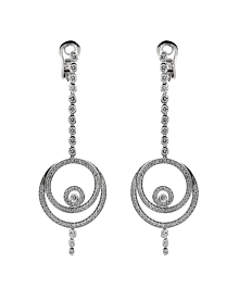 Audemars Piguet Millenary Diamond Drop 18k White Gold Earrings