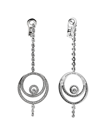 Audemars Piguet Millenary Diamond Drop 18k White Gold Earrings - Audemars Piguet Jewelry