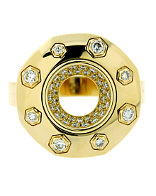 Audemars Piguet Royal Oak Diamond Gold Ring - Audemars Piguet Jewelry