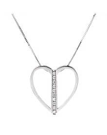 Bliss Diamond White Gold Heart Necklace