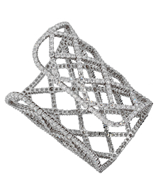Boucheron Weave Diamond White Gold Cuff 18k