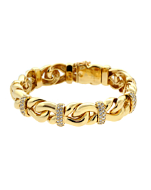 Boucheron Gold Diamond Chain Bracelet