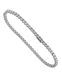 Bulgari Griffe Diamond Tennis White Gold Bracelet