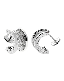 Bulgari Bzero1 Pave Diamond White Gold Earrings - Bulgari Jewelry