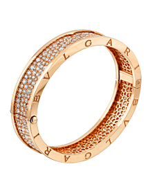 Bulgari Bzero Pave Diamond Rose Gold Bangle - Bulgari Jewelry