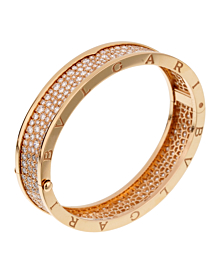 Bulgari Bzero1 Diamond Rose Gold Bangle Bracelet