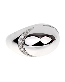 Bulgari Dome Diamond White Gold Ring - Bulgari Jewelry