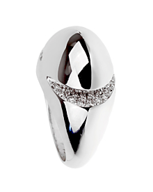 Bulgari Dome Diamond White Gold Ring
