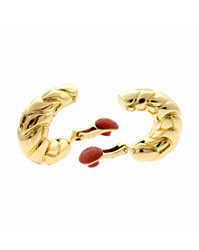 Bulgari Gold Hoop Earrings - Bulgari Jewelry