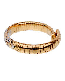 Bulgari Parentesi 18k Yellow Gold Cuff Bangle Bracelet - Bulgari Jewelry