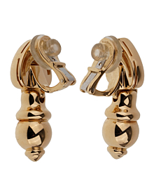 Bulgari Vintage Drop 18k Yellow Gold Earrings - Bulgari Jewelry