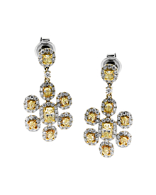 Estate Canary Diamond Earrings 6.60ct - Estate Jewelry