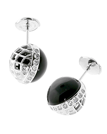 Carrera y Carrera Celosia Onyx Diamond Earrings