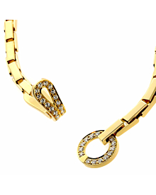 Cartier Agrafe Diamond Gold Necklace - Cartier Jewelry