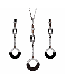 Cartier Ceramic & Diamond Drop Necklace Suite - Cartier Jewelry