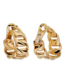 Cartier Chain Link Yellow Gold Hoop Earrings - Cartier Jewelry