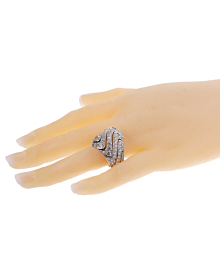 Cartier High Jewelry Pave Diamond Cocktail White Gold Ring